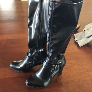 Black Pleather Boots